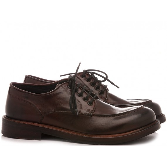 JP David Men's Shoes Leather Brown 52641/9