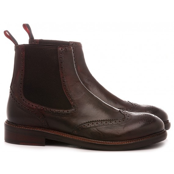 JP David Men's Ankle Boots Bordeaux Leather 37340/4