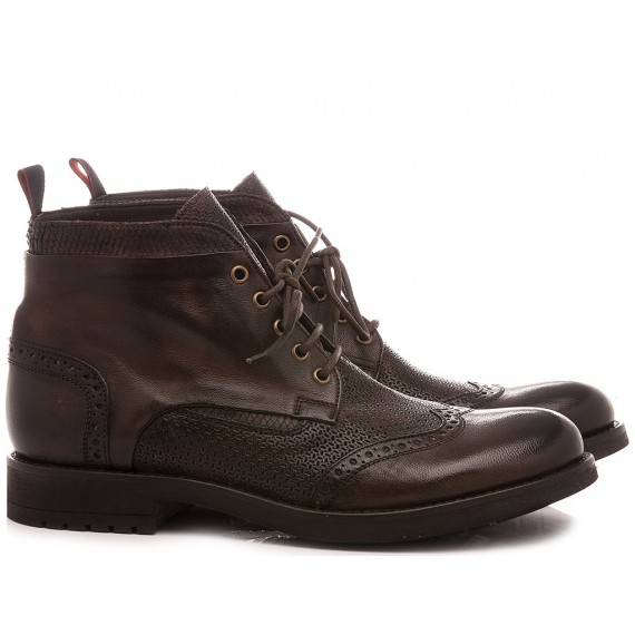JP David Men's Ankle Boots Leather Brown 34925/110