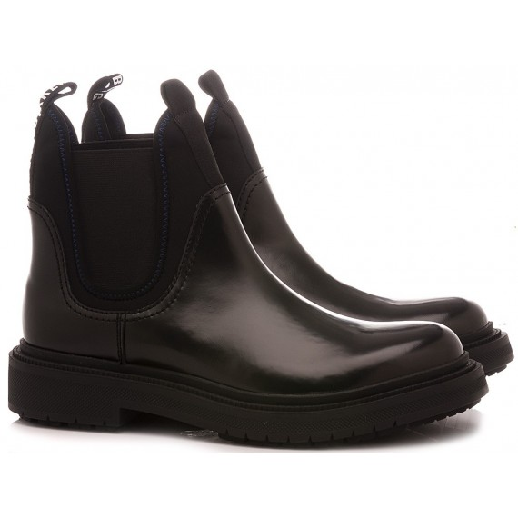 Bikkembergs Men's Boots Black Leather B4BKM0011
