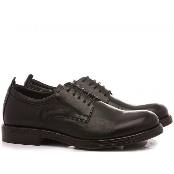 Exton Men's Shoes Leather 9002 Black