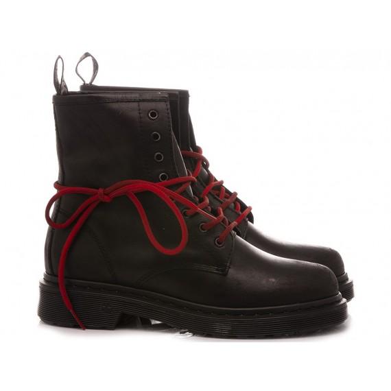RepKo Women's Ankle Boots Leather Black DM08