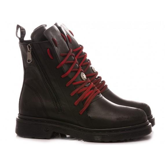 RepKo Women's Ankle Boots Leather Black DM26