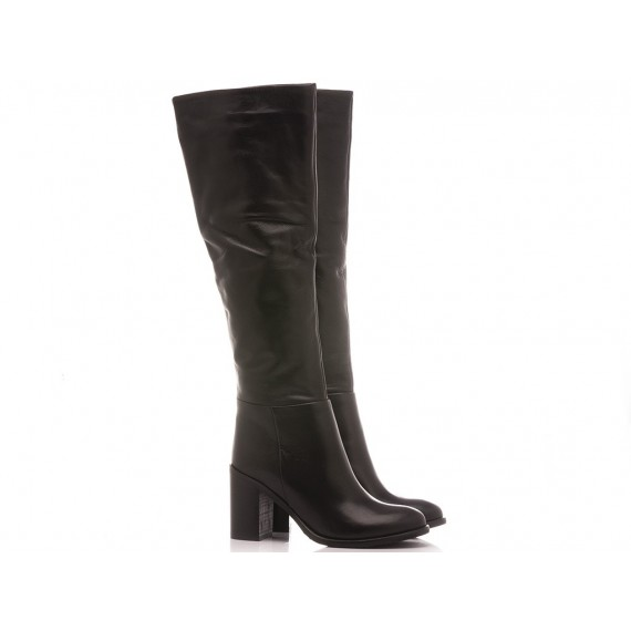 Lady Shoes Women's Boots Leather Black 440-B91