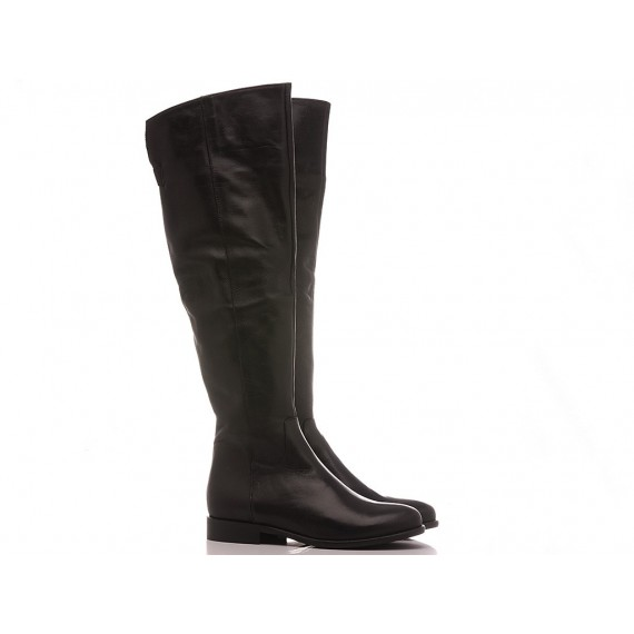 Lady Shoes Women's Boots Leather Black 518-B92
