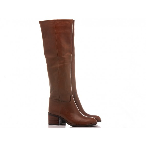 Lady Shoes Women's Boots Leather Tan 314-H110