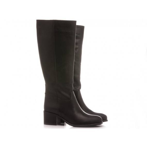 Lady Shoes Women's Boots Leather Black 314-642-VV