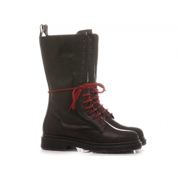 RepKo Women's Ankle Boots Leather Black DM35