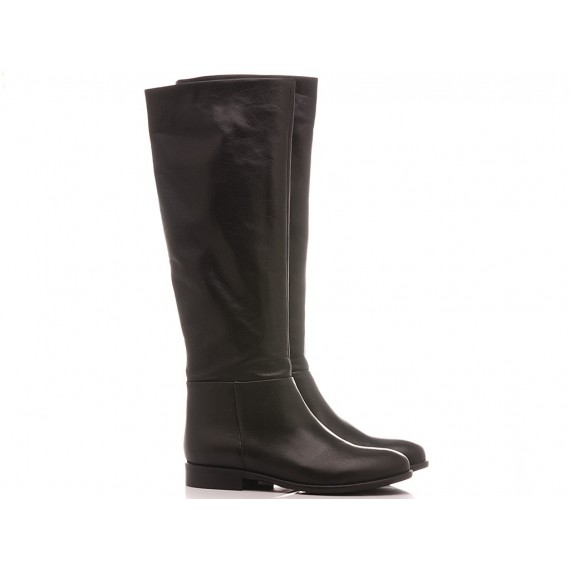Elisa Lanci Women's Boots Leather Black 518-B100