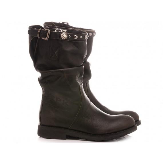 RepKo Women's Boots Dark Grey Leather BK5C