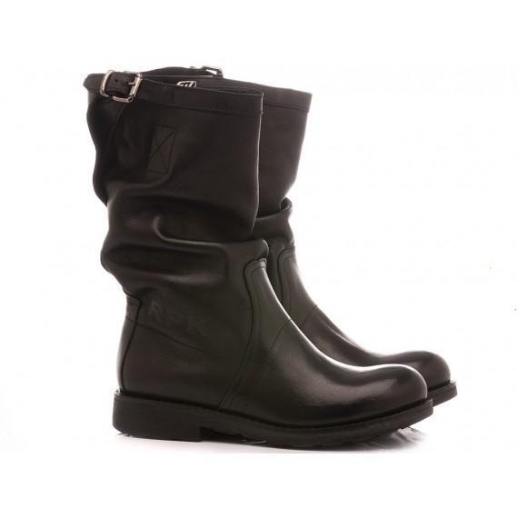 RepKo Women's Boots Black Leather BK5