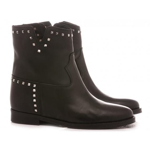 Gaia Shoes Women's Boots Leather Black T51B