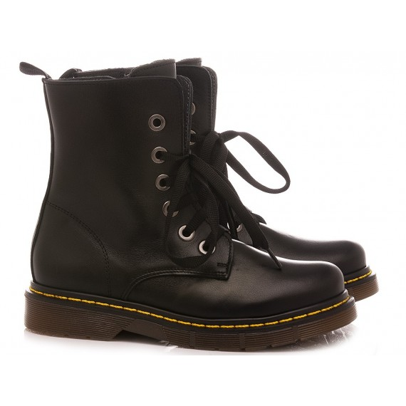 Chiara Luciani Girl's Ankle Boots Alice Black Leather