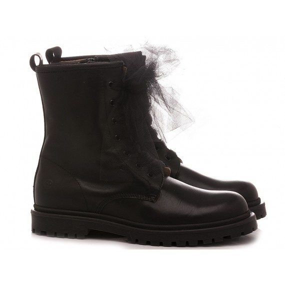 Florens Girl's Ankle Boots K2300 Black Leather