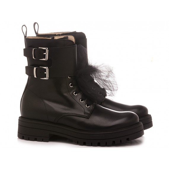 Florens Girl's Ankle Boots K2390 Black Leather
