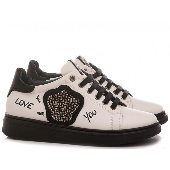 Chiara Luciani Girl's Sneakers Rosalinda White Leather