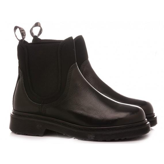 RepKo Women's Ankle Boots Black Leather DM10