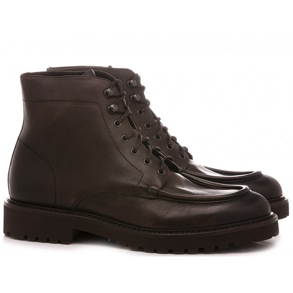 Doucal's Men's Ankle Boots Leather Ebony 2711