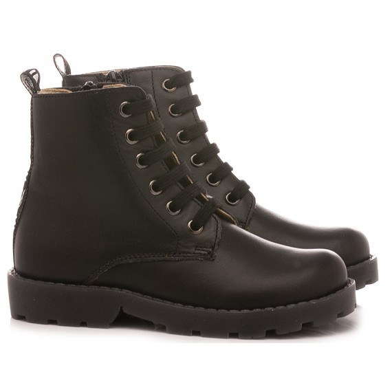 Naturino Girl's Ankle Boots Feluca Black Leather