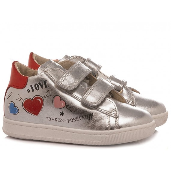 Falcotto Girl's Shoes Sneakers Janot Silver