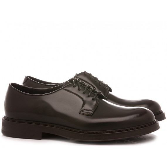 Doucal's Men's Shoes Leather Ebony 1385