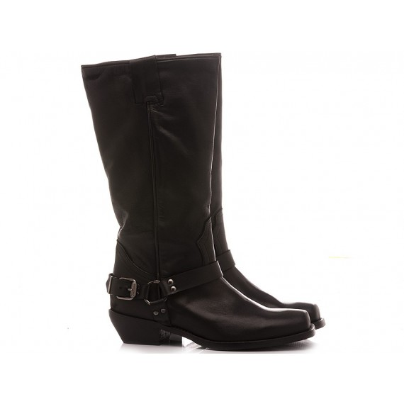Curiositè Women's Western Boots Leather Black 1628