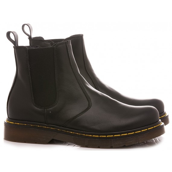Chiara Luciani Girl's Ankle Boots Black Leather
