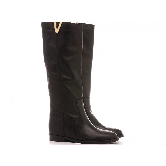 Gaia Shoes Women's Boots Leather Black T25