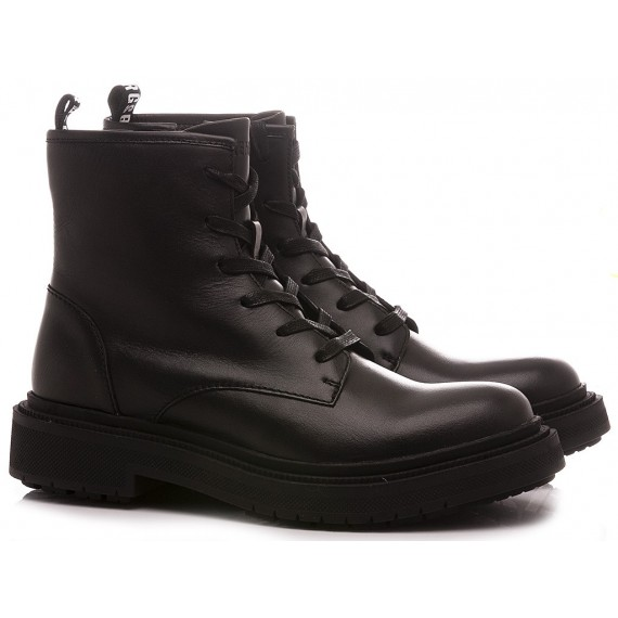 Bikkembergs Men's Ankle Boots Leather Black B4BKM0008