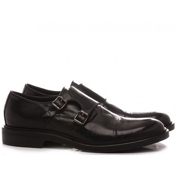 Hundred/100 Men's Classic Shoes Black Leather M681-36