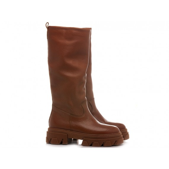 Giacko Women's Boots Leather Tan 1987 Combat Boot