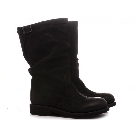Bikkembergs Women's Boots Black Suede B4BKW0125