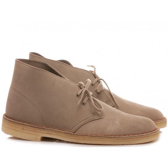 Clarks Man's Desert Boots Sand Suede