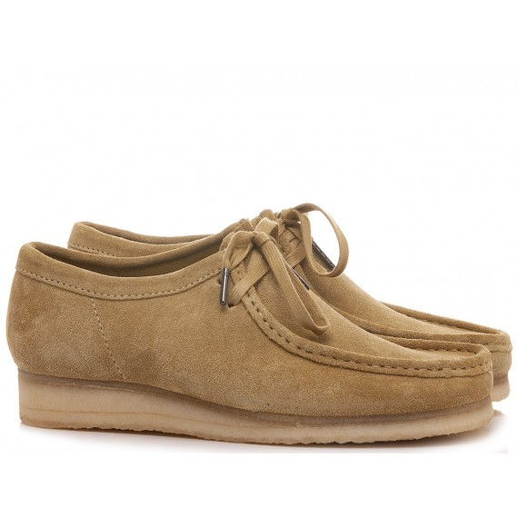 Clarks Man's Shoes Wallabee Maple Suede