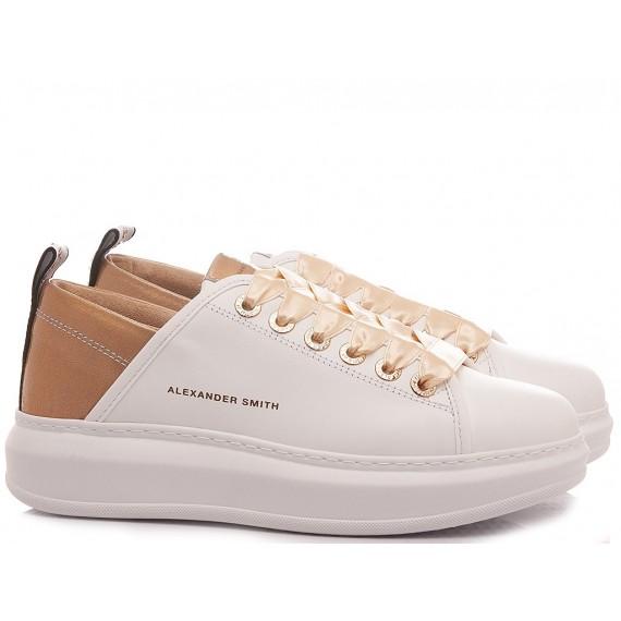 Alexander Smith Women's Sneakers Wembley White-Rosa
