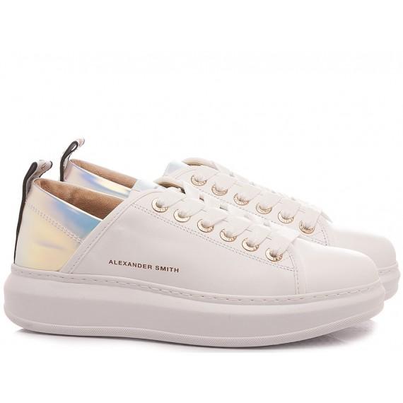 Alexander Smith Women's Sneakers Wembley White-Azure