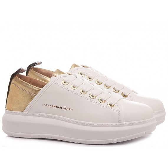 Alexander Smith Women's Sneakers Wembley White-Gold