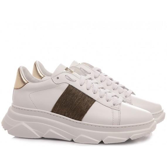 Stokton Women's Sneakers Leather White 803-D