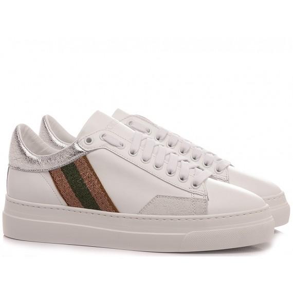 Stokton Women's Sneakers Leather White Bubble