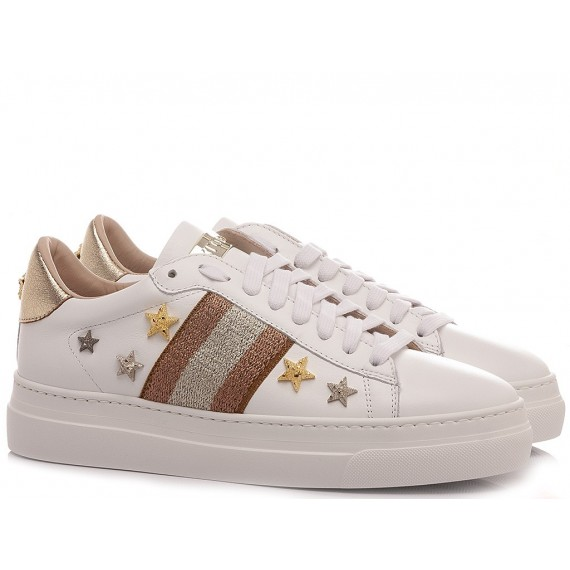 Stokton Women's Sneakers Leather White 769-D-SS21-UP