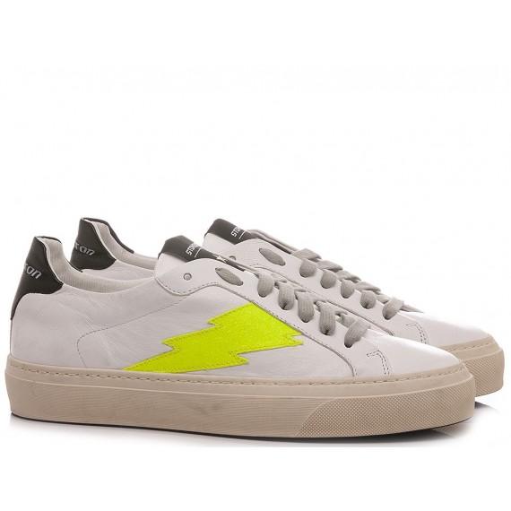 Stokton Women's Sneakers Leather White BLAZE-D-SS21 Capri