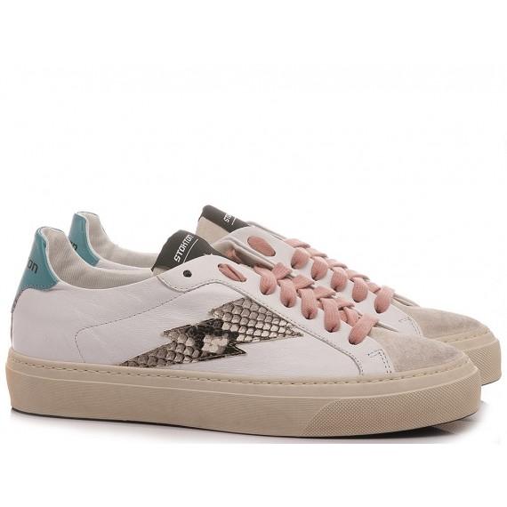 Stokton Women's Sneakers Leather White BLAZE-D-SS21 Iglesias