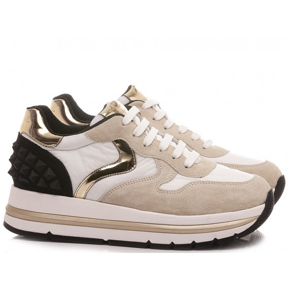 Voile Blanche Women's Sneakers Maran Studs White
