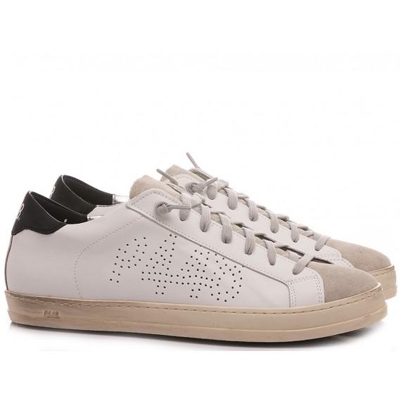 P448 Men's Low Sneakers S21BJhon White-Black