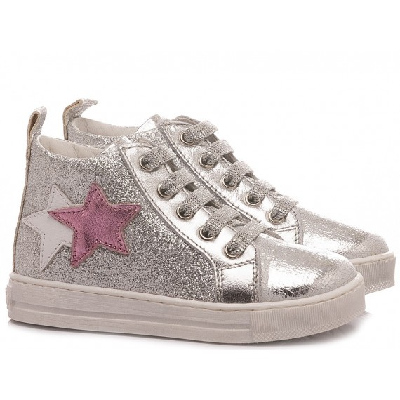 Falcotto Girl's Shoes Sneakers Stellar Scratch Silver