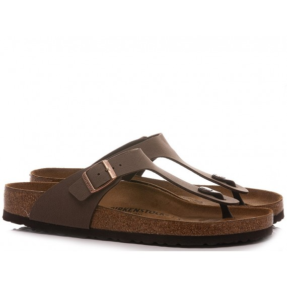 Birkenstock Men's Sandals-Slippers Gizeh BS Mocca