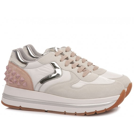 Voile Blanche Women's Sneakers Maran Studs White-Rose