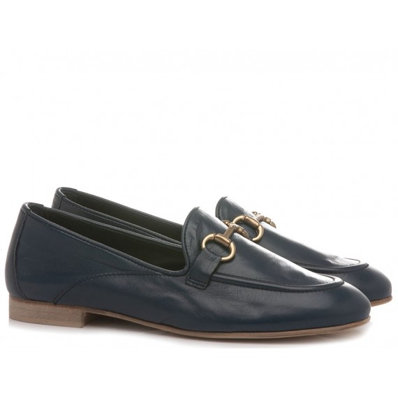 Poesie Veneziane Women's Shoes Loafers Leather Blue JJA40