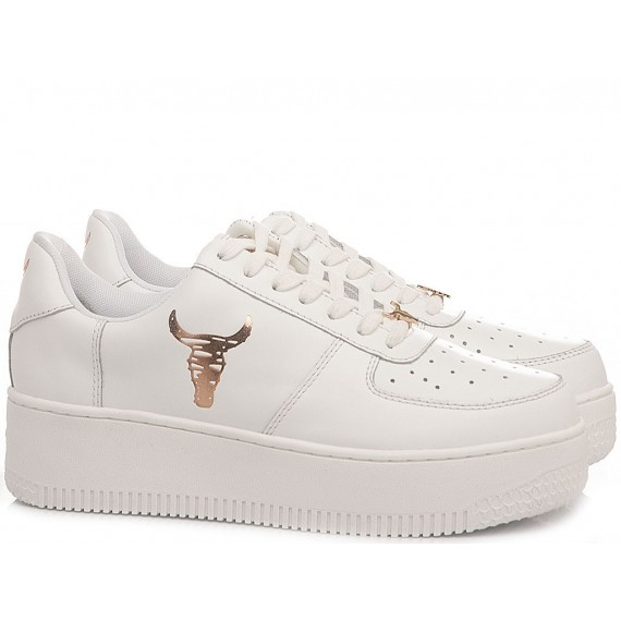 Windsor Smith Women's Sneakers Remix White Rose Gold