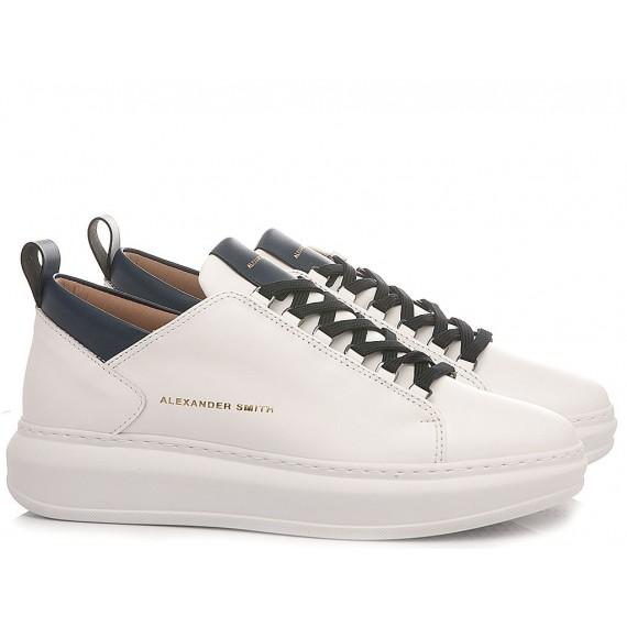 Alexander Smith Women's Sneakers W107481 White-Blue